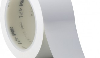 3M 471 WHITE VINYL FLOOR MARKING TAPE (50mm x 33m x 0.14mm)