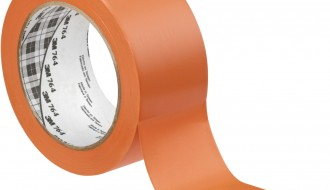 3M ORANGE VINYL FLOOR MARKING TAPE (50mm x 33m x 0.13mm)