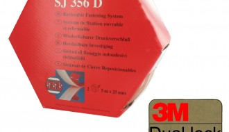 3M Transparent SJ356D D/L TWIN PACK, 25mm x 5m