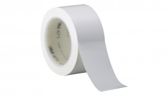 3M White Vinyl Electrical Insulation Tape 471