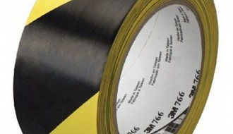 3M BLACK AND YELLOW VINYL FLOOR MARKING TAPE (50mm x 33m x 0.13mm)