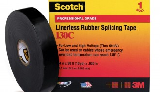 3M Scotch® 103C Black Ethylene Propylene Rubber Electrical Insulation Tape
