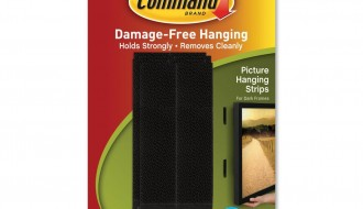 3M Black Picture Hanging Strips 17206N, 190mm x 927mm