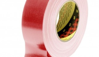 3M™ 389 PE Coated Red Cloth Tape 50mm x 50m 0.26mm Thick