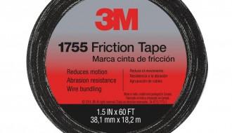 3M Temflex 1755 Rubber Black Cloth Tape 19.1mm x 18.288m 0.33mm Thick