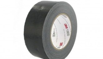 3M™ 1900 PE Coated Black Duct Tape (50m x 50mm x 0.17mm)