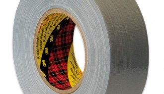 3M Scotch 1909 PE Coated Silver Cloth Tape 50mm x 50m 0.28mm Thick
