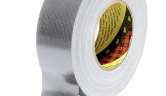 3M™ 389 PE Coated Silver Cloth Tape 50mm x 50m 0.26mm Thick