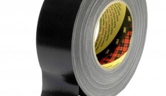 3M Scotch 389 PE Coated Black Cloth Tape 25mm x 50m 0.26mm Thick
