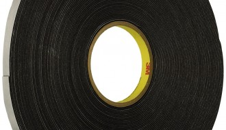 3M 4516 Black Single Sided Foam Tape 6.35mm x 91m