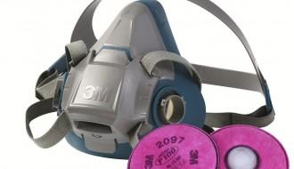 3M 6200 Half Facepiece Respirator + 3M 2097 P100 Ozone Protection & Nuisance Level Organic Vapor Relief