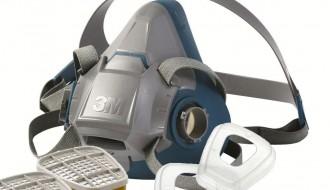 3M 6200 Half Facepiece Respirator + 3M 6001 Organic Vapor Cartridge + 3M 501 Filter Retainer + 5N11 Particulate Filter