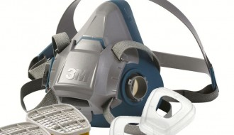 3M 6200 Half Facepiece Respirator + 3M 6006 Multi Gas Vapor Cartridge + 3M 501 Filter Retainer + 5N11 Particulate Filter