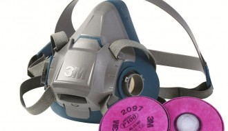 3M 6502QL Rugged Halfpiece Respirator + 3M 2097 P100 Ozone Protection & Nuisance Level Organic Vapor Relief