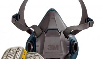 3M 6502QL Rugged Respirator Half Facepiece + 3M 6003 Acid Gas Organic Vapor Cartridge
