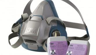 3M 6502QL Rugged Respirator Half Facepiece + 3M 7093 P100 Particulate Filter