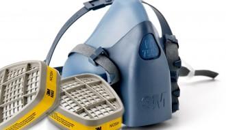 3M 7502 Half Facepiece Dual Cartridge Respirator + 3M 6001 Organic Vapor Cartridge + 3M 501 Filter Retainer + 5N11 Particulate Filter