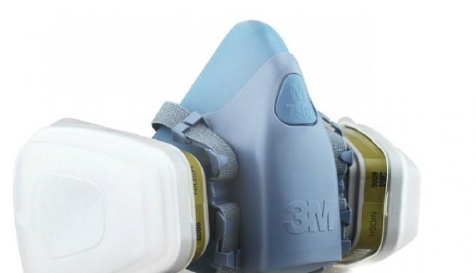 3M 7502 Half Facepiece Dual Cartridge Respirator + 3M 6006 Multi Gas/Vapor Cartridge