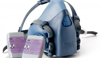 3M 7502 Half Facepiece Dual Cartridge Respirator + 3M 7093 P100 Particulate Filter