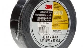3M™ 6910 PE Coated Black Duct Tape