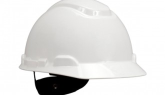 3M H-701 P Hard Hat White , 4-Point Pinlock , Comes With 3M 1990 Chinstrap