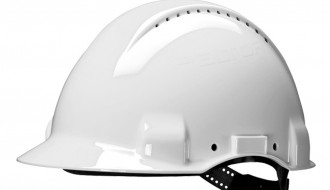 3M H-701 R Hard Hat White , 4-Point Pinlock , Comes With 3M 1990 Chinstrap