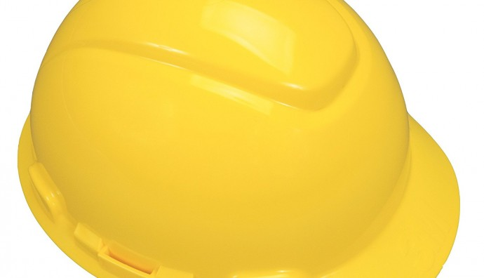 3M YELLOW SLIDE LOCK HARD HAT M-602 S