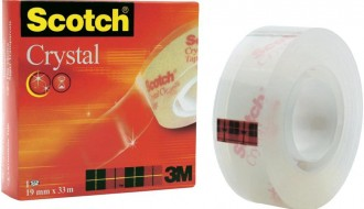 3M Clear Office Tape 600 19mm x 33m