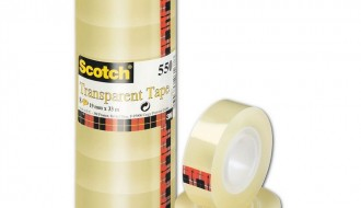 3M Clear Office Tape 550 19mm x 66m