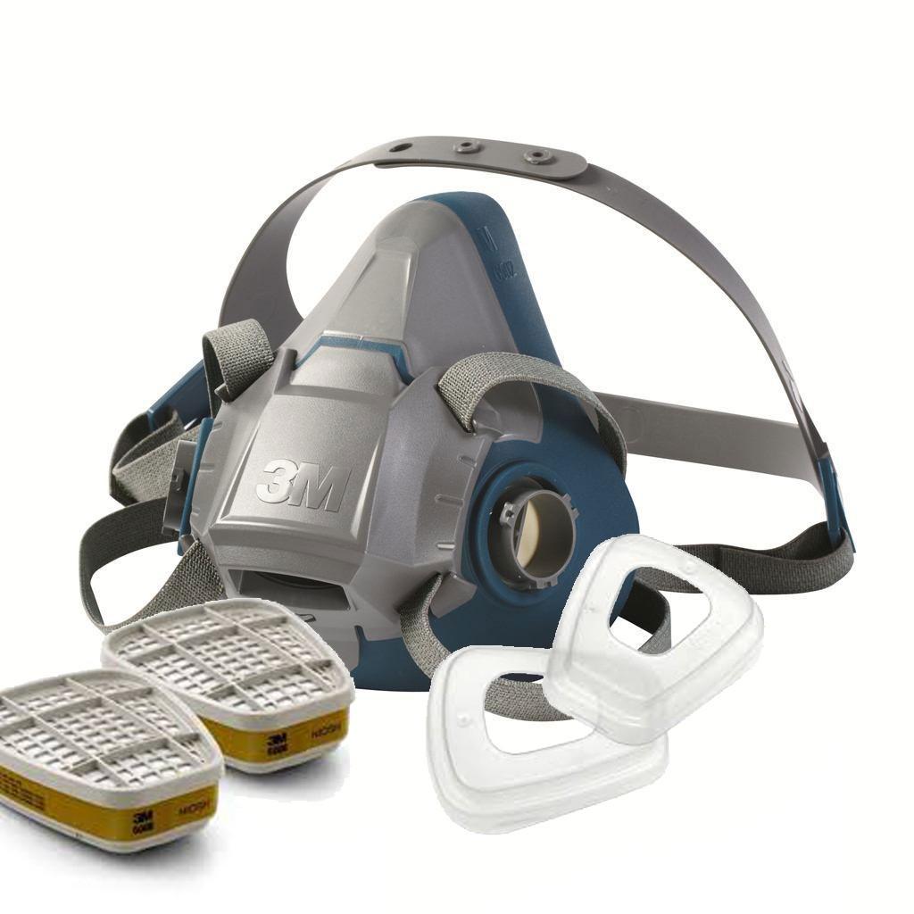3M 6502QL Half Respirator 6003 Cartridge 501 Filter Retainer 5N11 MASK