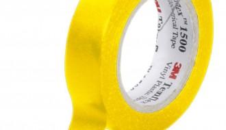 3M Temflex™ Yellow PVC Electrical Insulation Tape 1500