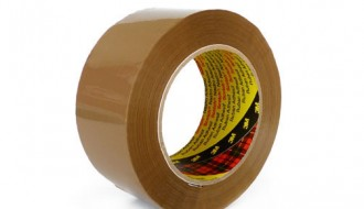 3M 3444 BROWN SINGLE SIDED TAPE ( 50mm x 50m )