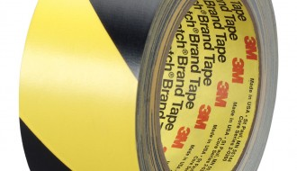 3M Black And Yellow Vinyl Hazard Tape 5702 50mm x 33m